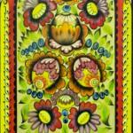 Декоративные цветы 18х35 анилин лак 1991г