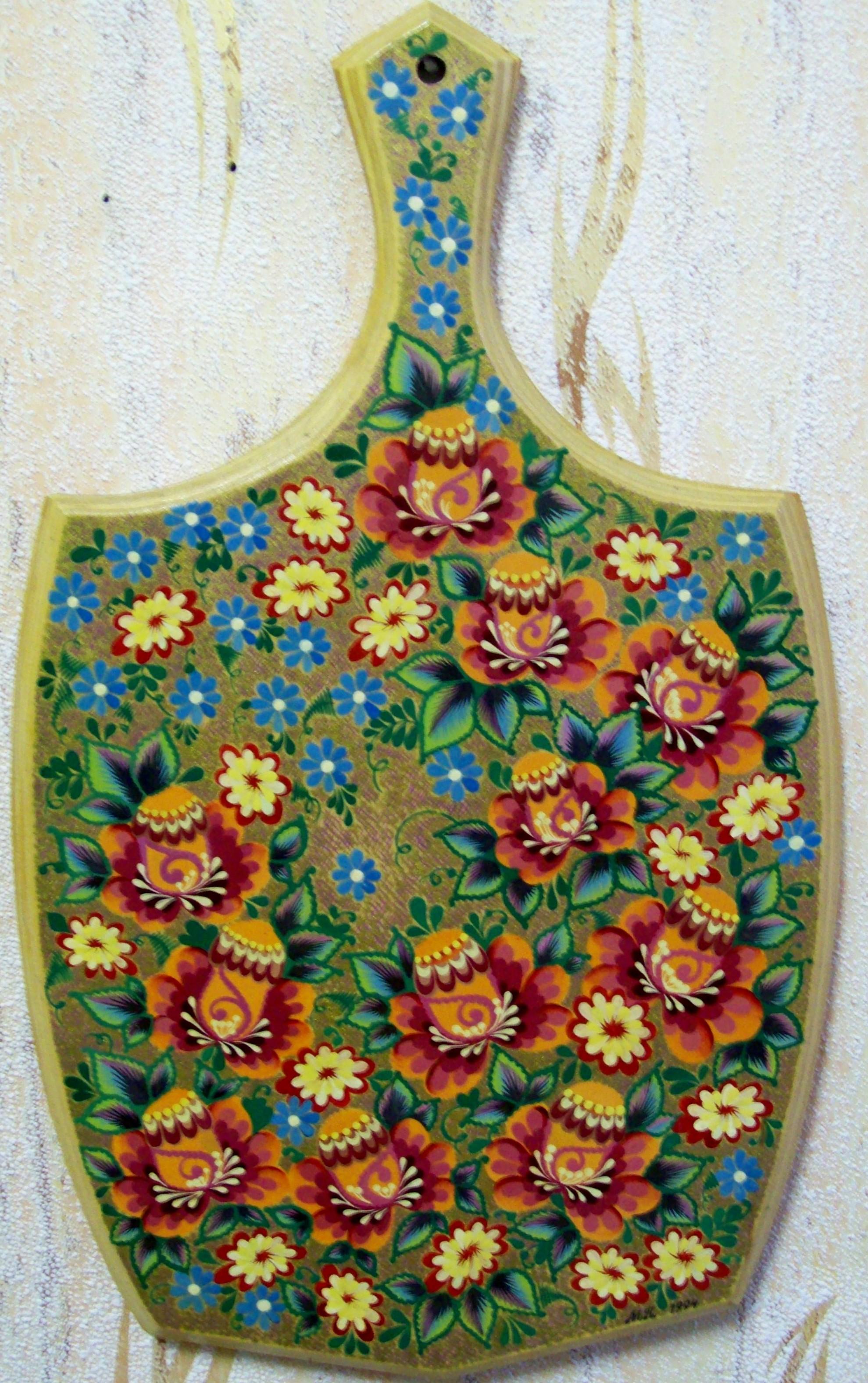 Цветы роспись гуашью