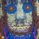Карнавальная маска из Африки 30х42 лен хлопок
