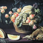 Натюрморт с фруктами и дичью, 60х80, х.м., 2011