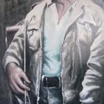 Портрет В.Высоцкого 82,5х148 х.м. 2011