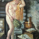 С картины Б.М. Кустодиева -Русская Венера-, 54,5х68, х.м., 2011
