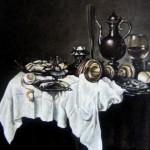С картины В.Хеда -Завтрак с омаром-, 35х40, х.м.