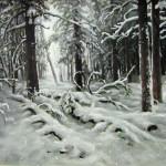 С картины И.И. Шишкина -Зима-, 60х80, х.м., 2011