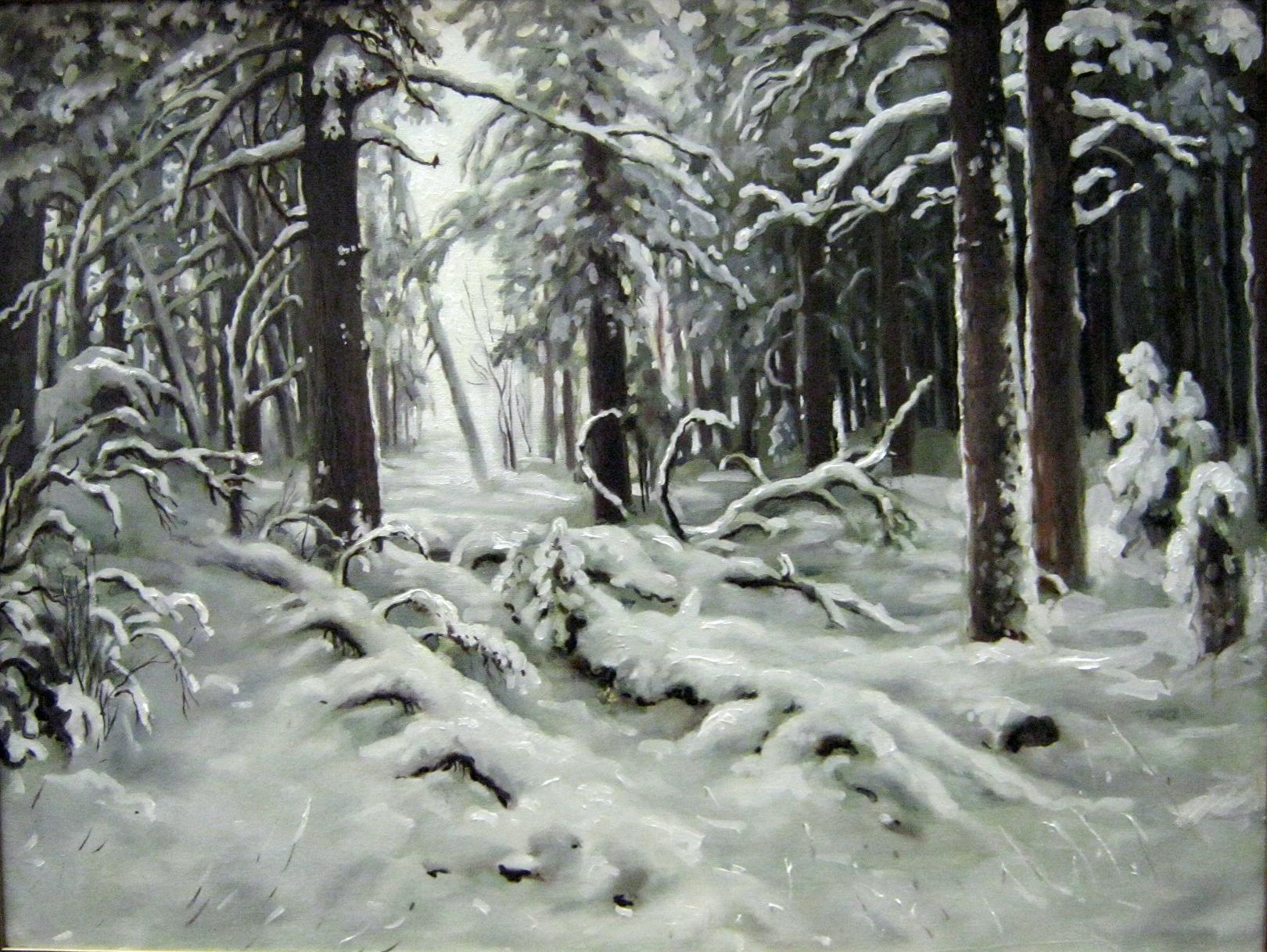 С картины И.И. Шишкина -Зима-, 60х80, х.м ...: art-is-life.ru/?page_id=290
