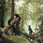 С картины И.И. Шишкина -Утро в сосновом лесу-, 108х82, х.м., 2011