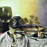 С картины П.Класа ван Харлема -Завтрак-, 60х78, х.м., 2011