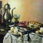 С картины П. Класа ван Харлема -Натюрморт с крабами, 60х76, х.м., 2011
