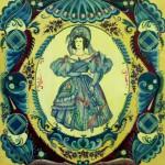 Театр в голубом костюме 41х50 гуашь лак 1989г Рыбинск