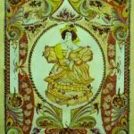 Театр в желтом костюме 41х50 гуашь лак 1989г Рыбинск