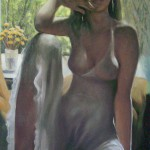 Портрет Весна 75х138 холст масло