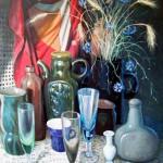 Стекло и керамика 59х78 холст на картоне, масло, 2009