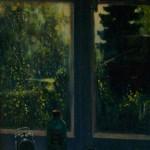Окно художника 70х81 холст масло 1995