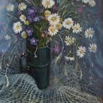 Полевые цветы 35х50 холст, масло
