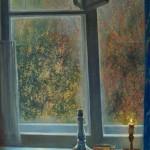 Окно в мастерской художника 65х85 ДВП масло 1998г