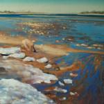 Малая вода 75х100 холст масло 2005г