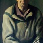 Автопортрет 71х100 ДВП масло 1995г галерея, онлайн, художники, арт, интерьер, масло, холст, живопись, русская, современная, реализм, натюрморт, пейзаж, рыбинск, художник Виктор Мануилов