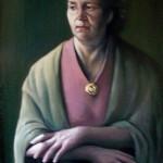 Портрет мамы 65х91 холст масло 1980г