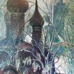 Церковь Богоявления 114х212 холст масло 1994г