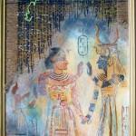 Египетские мотивы 40х67 смешанная техника