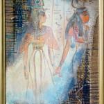 Египетские мотивы 42х72 смешанная техника
