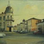 Дом Попова, Преображенский пер. 2, Рыбинск 20х30, х/к, масло,2013