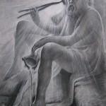 Бокал цикуты(Сократ), 56х80, бумага, тушь, перо