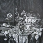 С картины А.Х.ван Бейерена, 65х85, бумага, тушь, перо